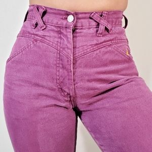 80s vintage western purple high waisted jeans